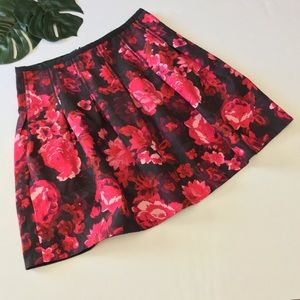 GAP Skirts - Blogger Gap Rose Floral Pleat Full Mini Skirt